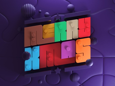 Happy Holidays! chirstmas type letters typography artdirection artdirector digitalart colors illustration 3d