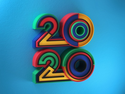 2020 artdirection type letters typography artdirector illustrator colors illustration photoshop 3d