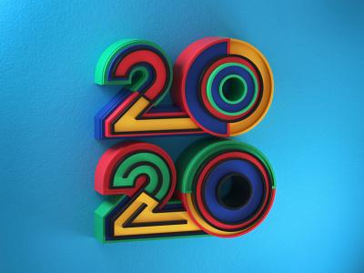 2020 artdirection type letters typography artdirector illustrator colors illustration photoshop 3d