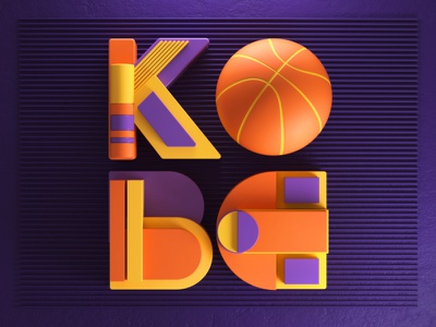 Kobe artdirection photoshop letters colors kobe nba type typography digitalart artdirector illustration 3d