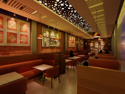 Interior Design and Render of a Restaurant restaurant interior design render lumion design architecture 3d