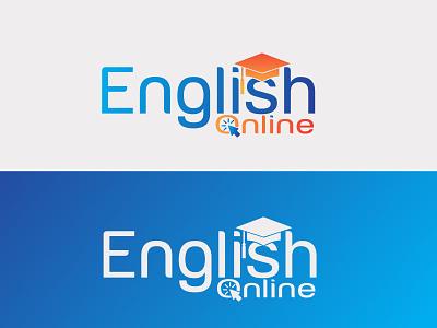English Online Logo Branding minimal letter logos letter logo challenge letter logo illustration app education logo icon design branding logo branding logos graphics