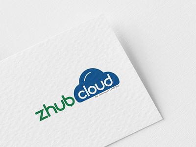 Zhub Cloud Logo Branding logo letter logo challenge vector letter logos letter logo minimal logo branding logos graphics illustration icon design branding