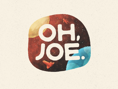 Oh, Joe. moon stars sun solar system planets texture cosmic logo joe space illustration