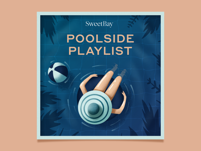 SweetBay Spotify Playlist Cover summer pool spotify playlists texture design illustration