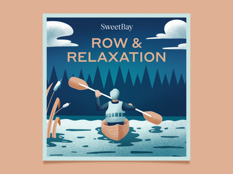 SweetBay Spotify Playlist Cover summer spotify playlists relaxation lake texture design illustration
