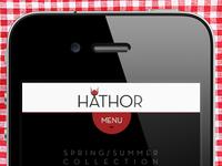 Hathor - Homepage /01 (iOS)