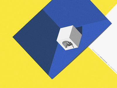 Postcard from a quarantine render design collage 60s 3dillustration