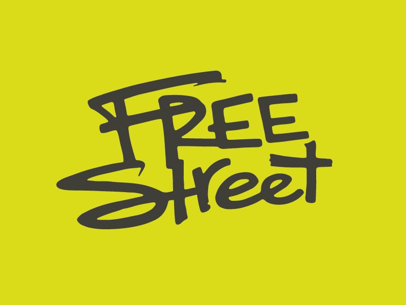 Free Street Theater theater hand-drawn youth logo lettering grunge bold street graffiti chicago park district