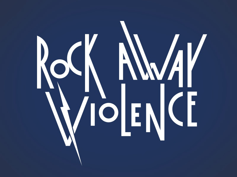 Rock Away Violence '15 - Take Two logo lettering type rock music concert violence cause eva alliance domestic violence child abuse sexual assault