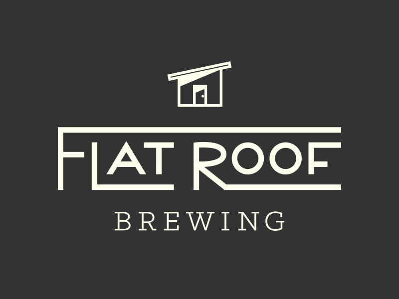 Flat Roof Brewing brewing icon graphic logotype logo beer