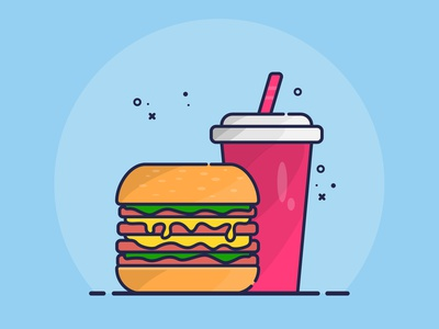 Burger icon design web design vector illustration vector art ui ux ui design minimal design flat illustration flat design flat logo illustration icon design branding