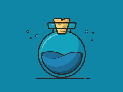 Chemical Blue minimalist logo illustration art art ui  ux graphic design branding vector illustration ui design flat illustration flat design flat illustration icon design