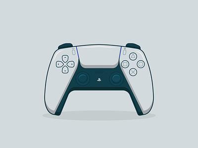 PS5 Controller graphic design ui  ux vector illustration ui design flat flat illustration flat design illustration icon design