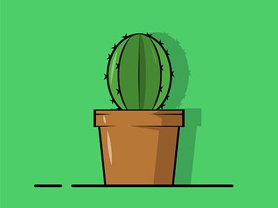 Cactus icon design graphic design vector illustration ui design flat flat illustration flat design icon illustration design