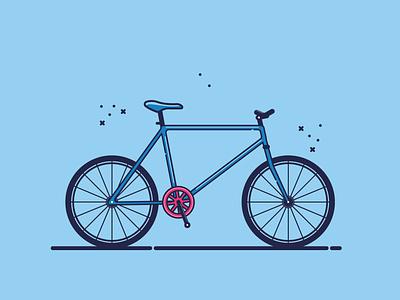Bicycle ui ux vector art graphic design vector illustration ui design flat illustration flat design flat illustration icon design