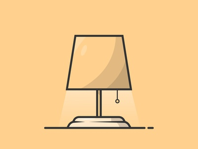 Lamp ui  ux graphic design vector illustration ui design flat illustration flat design flat illustration icon design