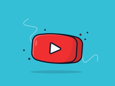 Play Button Youtube ui  ux vector illustration graphic design ui design flat flat illustration flat design illustration icon design