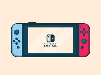 Nintendo Switch ui  ux graphic design vector illustration ui design flat illustration flat design flat illustration icon design