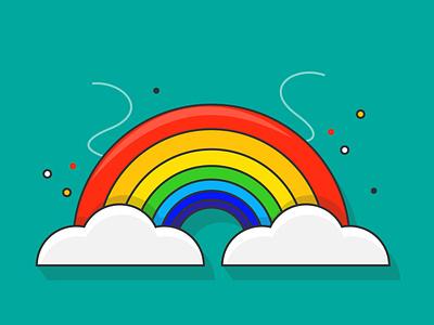 Rainbow graphic design vector illustration logo ui  ux flat illustration flat design flat illustration icon design