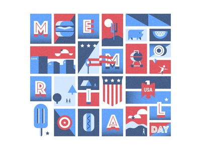 Memorial Day Illustration usa eagle bbq weebly flag america memorial day illustration