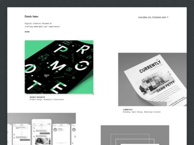 Portfolio Update ux ui interactions product design web design monochromatic portfolio