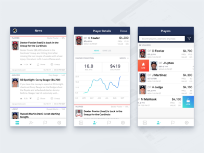 Mobile Lineup Optimization ux ui sports product design mobile ios graph app