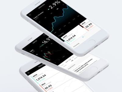 Data Visualization gradients trending app ux ui stock data graph mobile