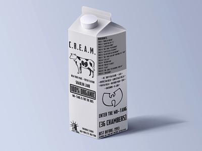 Wu-Tang Clan C.R.E.A.M. Concept icon logo design musicdesign mockup album music wutang packaging branding graphic design