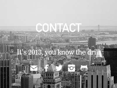 Agency contact page
