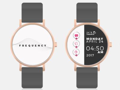 Frequency Smart Watch App minimal flat animation web app icon ux typography branding vector ui logo design illustration