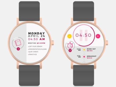Frequency Smart Watch App ux ui minimal illustration design app