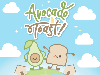 Avocado & Toast illustration design