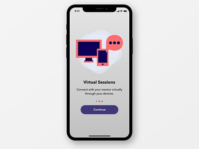 onboarding UI app design ui ux invisionstudio illustration animation