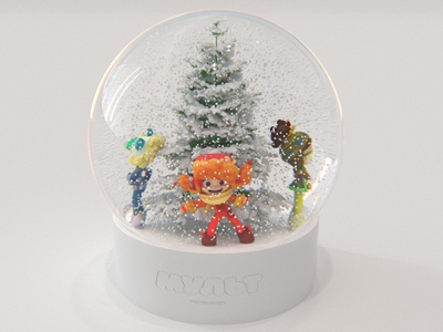 """Fantasy patrol"" snow globe design and visualization lighting animation characters 3d"