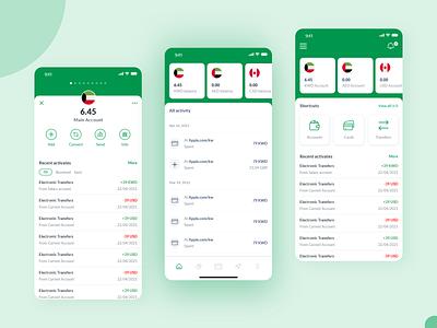 Several Bank App Concepts ui finance app bank ui bank bank app