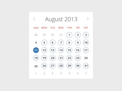 Event calendar for mobile site