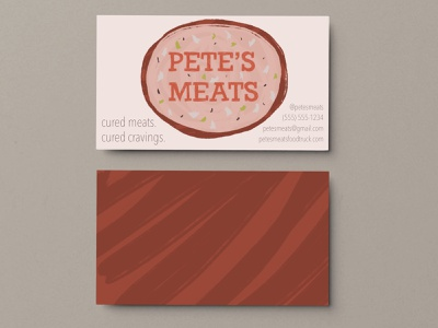 Pete's Meats Food Truck graphic design weekly warm-up weeklywarmup business card branding logo illustration design