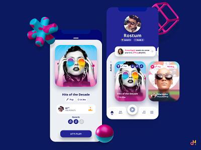 Concept Design - Music Trivia App ui ux ux  ui iphone ios mobile ui mobile app app mobile uxui ui design ux design