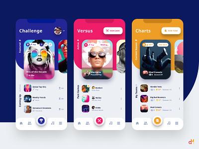Concept Design - Music Trivia App ui designs app design ios app iphone ios mobile app mobile design ux ui uiux ux design ui design