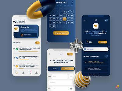 App Design - Growth, Development & Accountability mobile ui ios app android iphone ios mobile apps app design app mobile design ui design uxdesign ux  ui