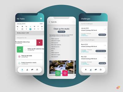 App Design - Studio Employee Task-Tracking ios ios app ux  ui mobile ui mobile design mobile app app design app ux design ui design