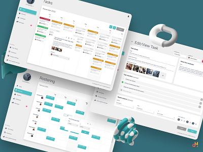 Web Portal Design - Studio Organiser calendar ui web platform web portal website web design ux  ui ux ui ux design ui design