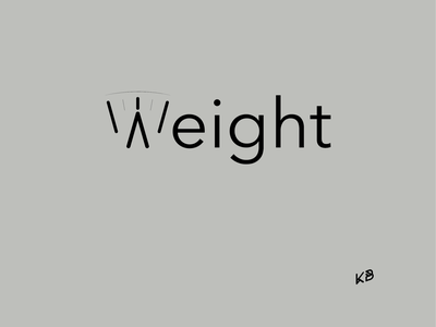 Weight typogaphy logo minimal illustration flat design