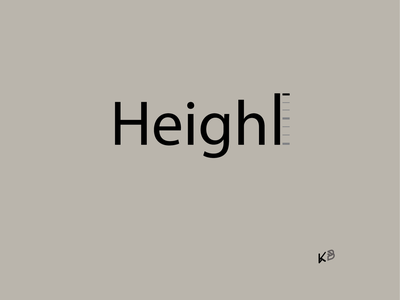 Height logo vector typography minimal illustration flat design height