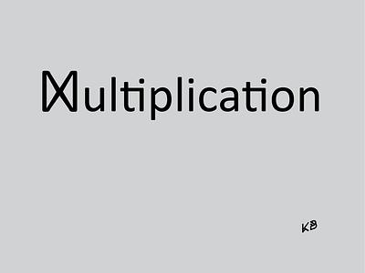Multiplication typography vector logo illustration flat design minimal mathematics school multiplication