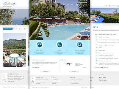 Residence Elvira template tourism residence layout webdesign web design wordpress responsive web site