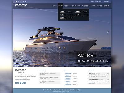 Homepage - v.1 wip yachts theme wp wordpress render homepage full screen responsive web site