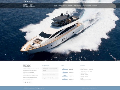 Amer Yachts - official site yachts yacht theme web design webdesign clean responsive web site website