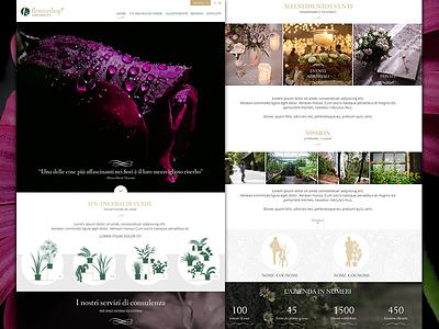Flowershop responsive parallax flowershop flowers website onepage template